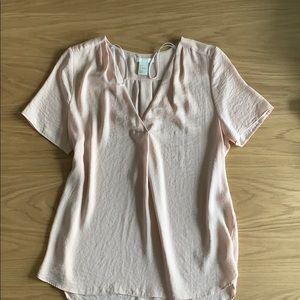 Loose Light Pink Business Casual Top